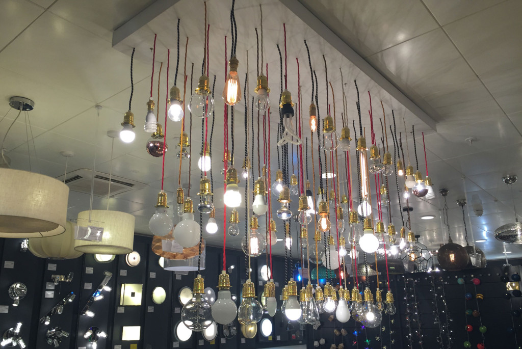 Visual impact blog archive john lewis oxford street installations lightbulb chandelier aloadofball Image collections